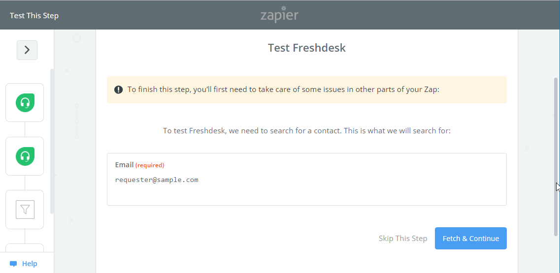 Toky Freshdesk find contact email test